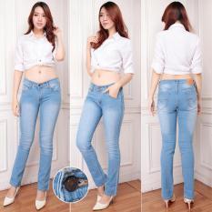Celana Jeans Wanita Skiny Biru Muda Standar