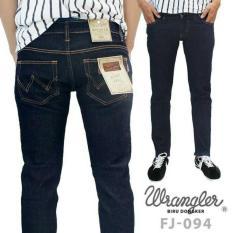 Celana Jeans Wrangler Biru Dongker MOdel Straight