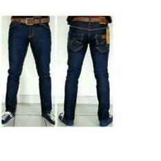 Celana Jeans wrangler Garment Blue (Biru Dongker) Standar murah