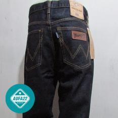 Spesifikasi Celana Jeans Wrangler Blue Black Biru Dongker Original Regular Standar Promo Murah Dan Harga