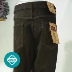 Celana Jeans Wrangler Coklat - Brown Premium Reguler Fit Basic Standar Terbaru Terlaris Best Seller