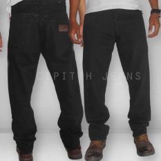 Celana Jeans - Wrangler Reguler Fit - Big Size To XXXL Best Materials - Black