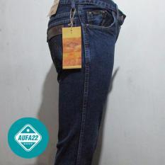 Celana Jeans Wrangler Super Reguler Fit Biowash - Biru Tua Promo Terbaru