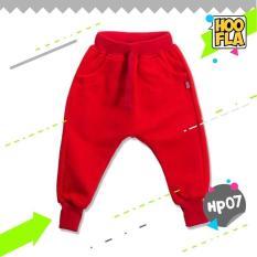 Celana Joger Harem Panjang Polos Anak Laki Cowo Cewe Hoofla HP07 XS/S