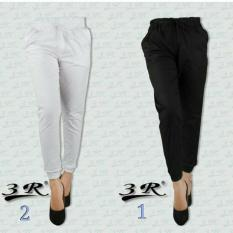 Celana Joger Katun Wanita 3R Original Ukuran L Putih / White Gambar utama no 2
