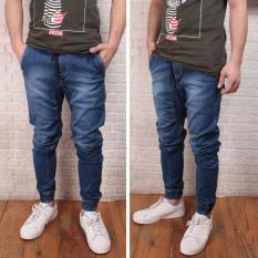 Jual Celana Jogger Jeans Pria Biru Di Bawah Harga