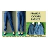 Perbandingan Harga Celana Jogger Joger Jeans Denim Big Size Jumbo Besar Cewe Fit To Xxxxl Jogger Di Indonesia