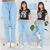 Beli Celana Jogger Wanita Meow Laser Biru Muda Tokolobo Murah