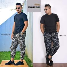 Celana Jogger Pria Motif Army By Ahmed Moslem Wear