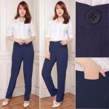 Jual Celana Kantor Panjang Wanita Jumbo Long Pant Jamie Navi Lengkap