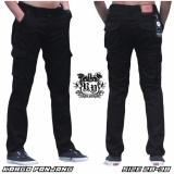 Beli Celana Kargo Panjang Pria Black Seken