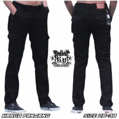 Celana Kargo Panjang Pria Black Jawa Barat Diskon 50