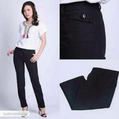 Celana kerja wanita Hitam/ Celana kantoran wanita / Celana Formal Cewek / Celana bahan perempuan