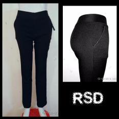 Celana kerja wanita hitam pinggang Karet / Celana kantoran wanita / Celana Formal Cewek / Celana bahan perempuan