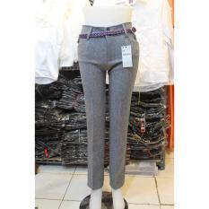Spesifikasi Celana Kerja Wanita Slim Fit Abu Muda Jumbo Lengkap Dengan Harga