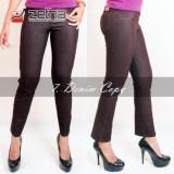 Beli Celana Kerja Wanita Strecth Celana Panjang Denim Kopi Original By Zetha Murah Di Jawa Tengah