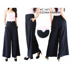 Spesifikasi Celana Kulot Denim Posey Celana Panjang Long Pants Bawahan Yang Bagus Dan Murah