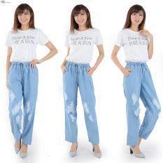 Harga Celana Kulot Jeans Wanita Sobek Lapis Murah Meriah Termahal