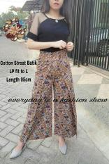 Celana Kulot (M - Fit L) CIMAR Maroon - Katun Batik Stretch