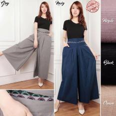 Review Toko Celana Kulot Panjang Wanita Jumbo Long Pant Evana Purple