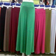 Celana Kulot Polos   Panjang Standar -Rayon (kaos)-aneka warna