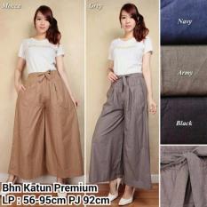 Celana kulot rok panjang wanita jumbo long pant Jenna - hitam