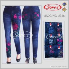 Celana Legging Jeans Flower Sorex 6692 Murah