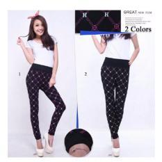Review Celana Legging Wanita Jumbo Long Pants Herna O1 Terbaru