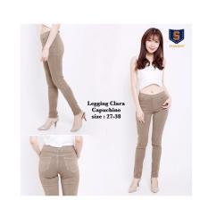 Jual Celana Leging Jeans Wanita Cintia Mocca 31 34 Import