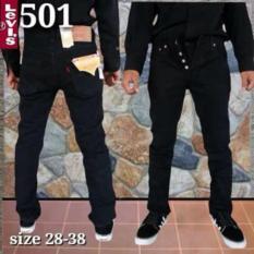 Celana Levis501 Hitam Pekat Original Import - U119A4