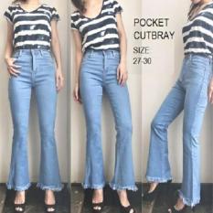 Beli Celana Pakaian Bawahan Wanita Fashionable Vr Celana Pocket Cutbray Kredit