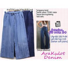 Celana Panjang Ara Kulot Denim Jeans 34 JUMBO BIGSIZE