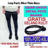 Jual Celana Panjang Biker Bikers Rider Jeans Navy Royalvip Pria Cowok Bagus Premium Import Promo Gratis Di Indonesia
