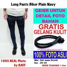 Spek Celana Panjang Biker Bikers Rider Jeans Navy Royalvip Pria Cowok Bagus Premium Import Promo Gratis K