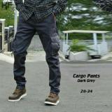 Celana Panjang Cargo Abu Murah