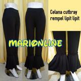 Harga Celana Panjang Cutbray Ruffle Lipit Lipit Original