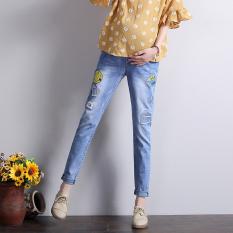 Celana Panjang Jeans Elastis Ibu Hamil (Gambar Warna)