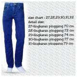 Beli Celana Panjang Jeans Pria Reguler Dongker Kredit Indonesia