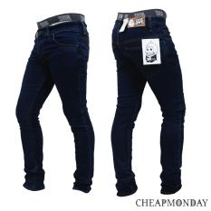Beli Celana Panjang Jeans Skinny Pensil Cheap Monday Biru Dongker Dengan Kartu Kredit