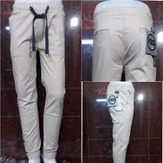 Jual Celana Panjang Jogger Pant Pria Warna Cream Bagus Murah Murah Di Dki Jakarta