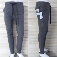 Beli Celana Panjang Jogger Pants Pria Bahan Cotton Twill Strecth Bagus Murah Online Terpercaya