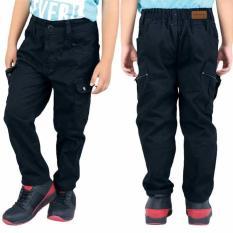 Celana Panjang Kain Anak Laki-Laki Cowok Warna Hitam CBE 102 CR