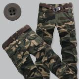 Promo Kebugaran Kasual Remaja Yard Besar Longgar Overall Celana Kamuflase Celana Tentara Kamuflase Hijau Tentara Kamuflase Hijau Murah