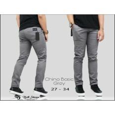 Celana Panjang Pria Chino Cino Premium Polos [Abu-Abu/Grey] Cino Panjang Slimfit