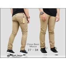 Celana Panjang Pria Chino Cino Premium Polos [Coklat Muda/Mocca/Khaki] Cino Panjang Slimfit