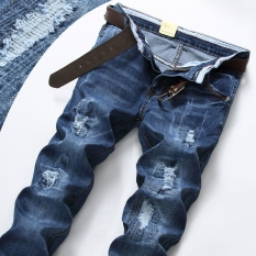 Spek Celana Panjang Pria Model Pengemis Pinggang Sedng Bahan Katun Warna Biru Biru Celana Pria Celana Panjang Pria Celana Jeans Oem