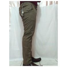 Celana panjang pria semi jeans Hurley/(Coklat muda)/