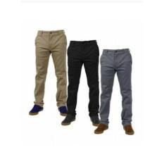 Celana Panjang Pria Slim Fit / Strit / Stretch / Bahan Katun - Oveq6v
