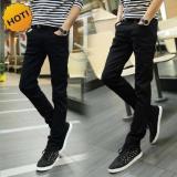 Ulasan Mengenai Celana Panjang Skinny Pria Berbahan Denim Street Murah Jahitan Rapi Resletig Kuat Hitam