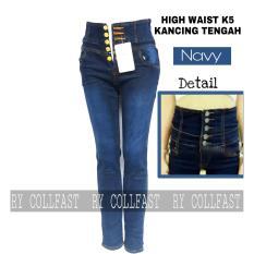 Spesifikasi Celana Panjang Wanita High Waist Skinny Soft Jeans Streetch Yang Bagus Dan Murah